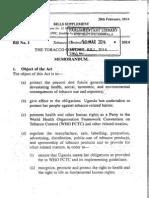 The Tobacco Control Bill, 2014