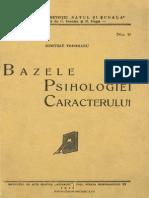 bazele psihologiei caracterului