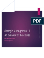 Strategic Management - I-Introduction Session - 2013-14