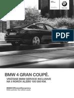 Cenník BMW 4 Gran Coupé