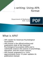APA Format Writing