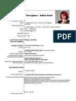 CV Adina-Georgiana Pana
