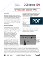 Longevity of CGs and DVDs