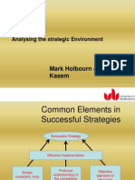 Lecture 2 - Analysing the Strategic Environment