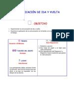 COMUNICACIÓN DE IDA Y VUELTA
