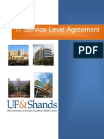 Draft 4 UFShands IT Service Level Agreement 08092010