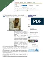 Os 10 erros mais cometidos em redação - Brasil Escola.pdf