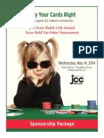 Poker Tournament Sponsorship Packet 2014