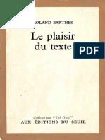 Roland Barthes Le Plaisir Du Texte Inconnu(e)