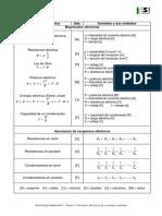 Formulario Tema Circuitos Electricos de Corriente Continua