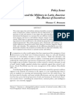 Civilians and the Military in Latin America:The Absence of Incentives
