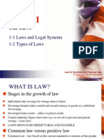 Laws and the Legal System and Types of Laws