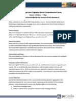 Syllabus SAFE 20 Hour HI Comprehensive PE