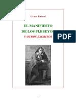 152209238 Babeuf Graco El Manifiesto de Los Plebeyos y Otros Escritos
