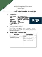 Organizacion y Administracion Del Soporte Tecnico