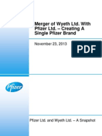 Merger of Pfizer Ltd. and Wyeth Ltd._23 Nov 13_Analyst Presentation