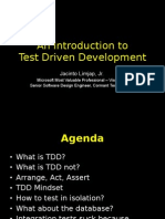 An Introduction to Test Driven Development