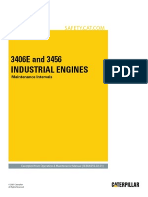 3406E and 3456 Industrial Engines-Maintenance Intervals | Motor Oil