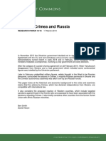 Ukraine, Crimea and Russia, Commons Library Research Paper