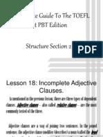 TOEFL - Structure 2.0