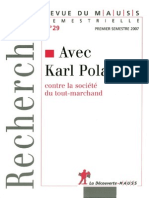 Caille, Alain - Avec Karl Polanyi