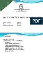 Exposicion Seleccion de Aleaciones de Cobre