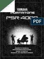Manual Do PSR 4000