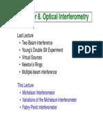 8 Optical Interferometry