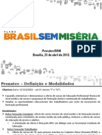 2. Apresentacao PronatecBSM MDS - 2012