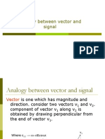 Analogy Bw Vector Nd Signals