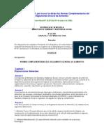 Resolucion N SG 081 Por La Cual Se Dictan Las Normas Complementarias Del Reglamento General de Alimentos (1)