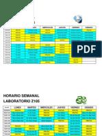 Horario practicantes 2014-1