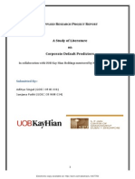 A Study of Literature on Corporate Default Predictors