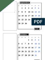 Calendrier année scolaire 2009-2010