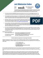 Regent Admission Index Cover Letter 2014