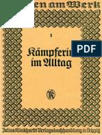 Frauen am Werk - Heft 1 - Kämpferin im Alltag (1938)