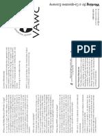 Vawc Information Brochure