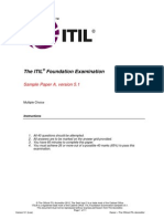 ITIL Foundation Sample Exam a v5 1-1