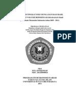 Pengaruh Tingkat Suku Bunga Dan Bagi Hasil Terhadap Volume Deposito Mudharabah