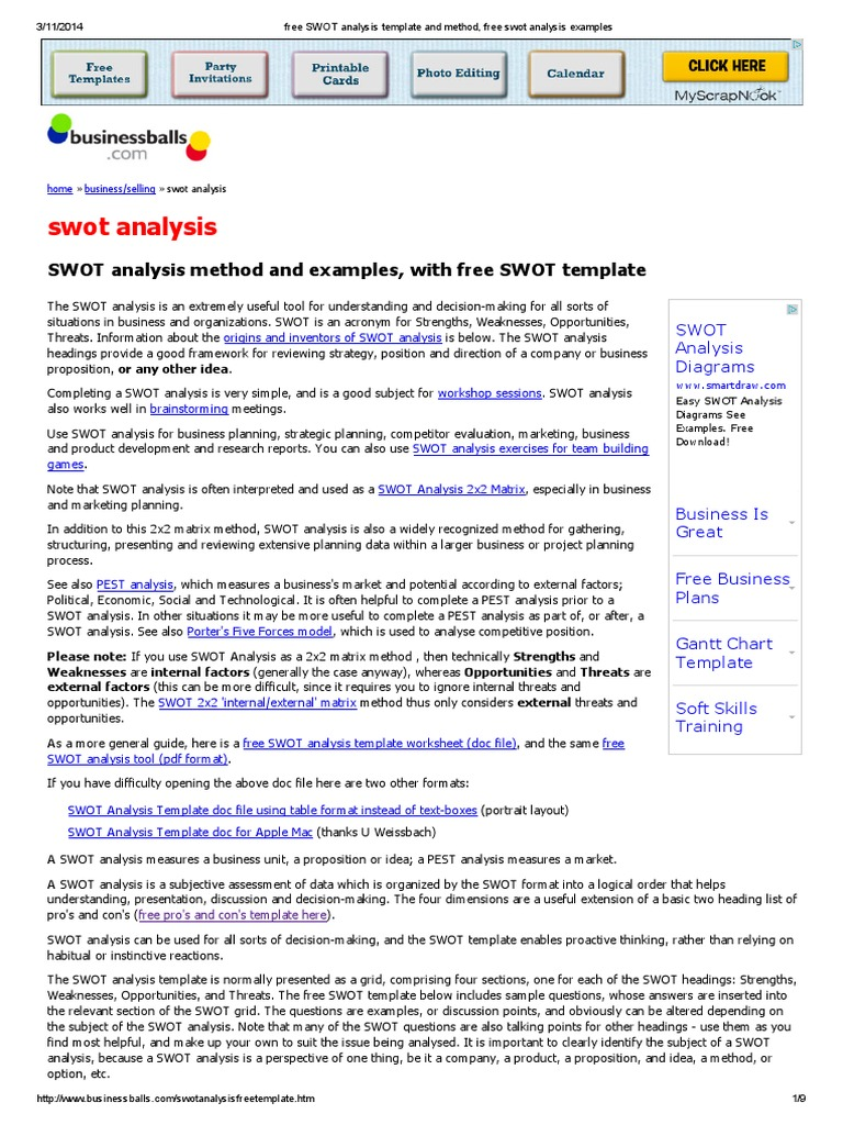 Free swot analysis template and method free swot analysis free swot analysis template and method free swot analysis examples swot analysis economies pronofoot35fo Images