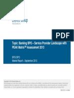 Everest Group Peak Matrixtm Assessment 2013 Banking Bpo Service Provider Landscape