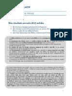communiqué presse _groupe_ratp_resultats_2013 mars 2014