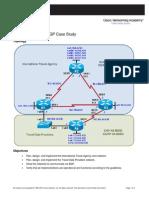 CCNPv6 ROUTE Lab6-5 BGP Case Study Student Form