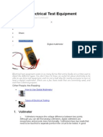 Types of Electrical Test Equipment