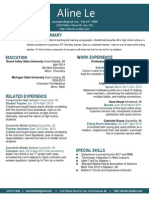 aline le resume 2 mar 9 2014