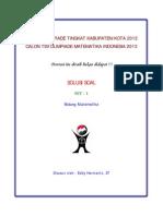 Solusi Olimpiade Matematika Tk Kota 2012