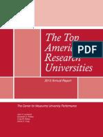 The Top Ten American research Universities