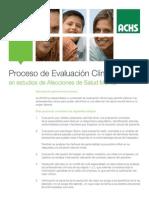 Proceso de Evaluacion Clinica