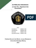 Organisasi Dan Tim, Organisasi Dan Komunikasi