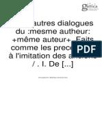 La Mothe le Vayer, F. de - Cinq autres dialogues faits comme les precedents à l'imitation des anciens